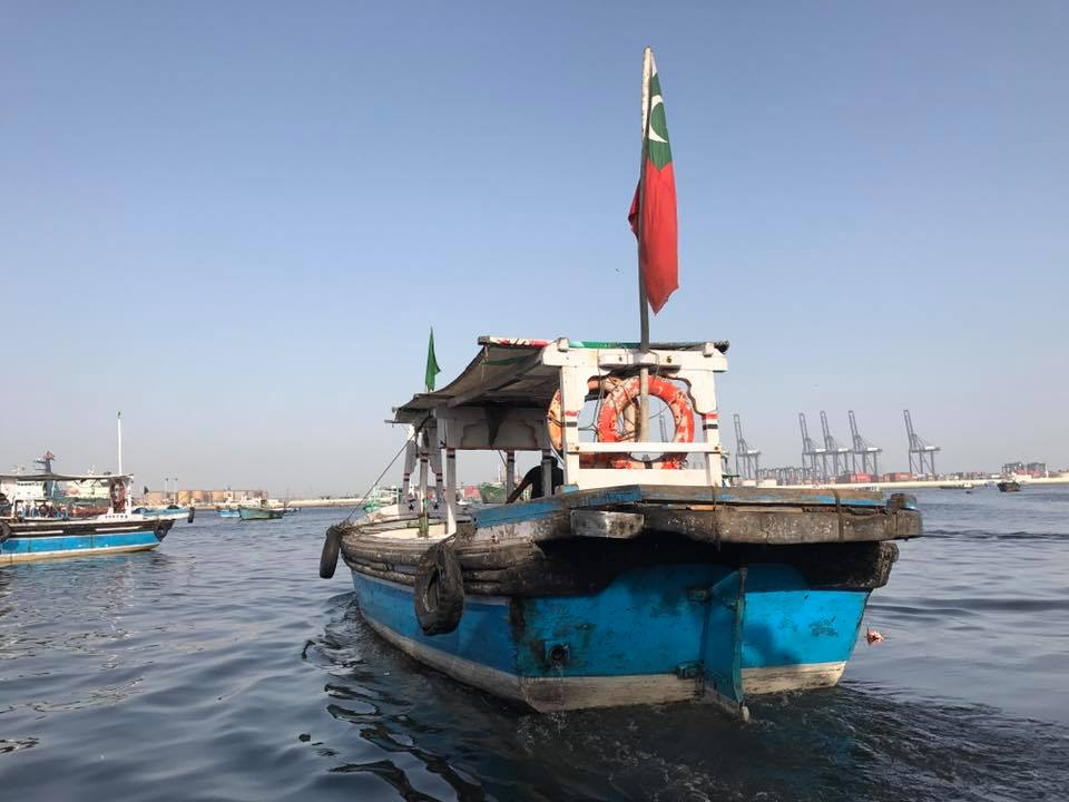 Boats like these are used by citizens to travel to Manora Island via Kemari in Karachi.