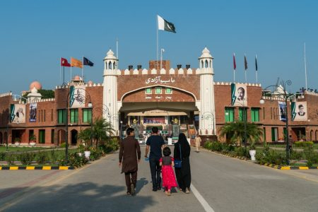 Image result for wagah border lahore pakistan